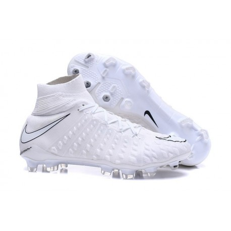 2017 Nike Hypervenom Phantom III FG Soccer Shoes All White