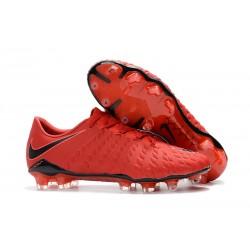 2017 Nike Hypervenom Phantom III FG Soccer Shoes University Red White Bright Crimson Hyper Crimson