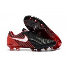 New Nike Magista Opus II FG Football Boots - Low Price - Black White Hyper Crimson Bright Crimson
