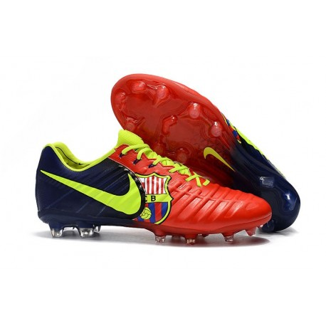 Nike Tiempo Legend VII FG FG Soccer Shoes - Low Price Red Blue Volt