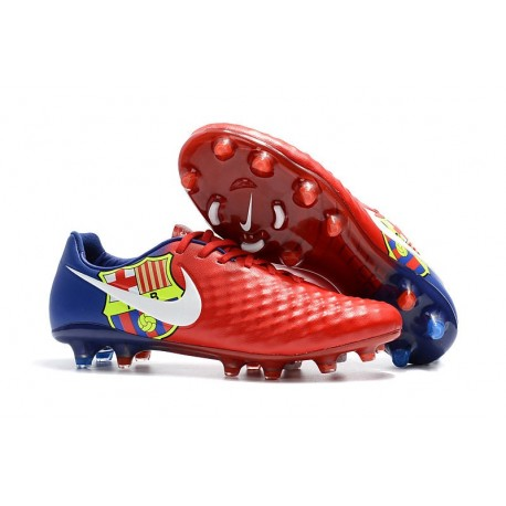 New Nike Magista Opus II FG Football Boots - Low Price - Barcelona Red Blue