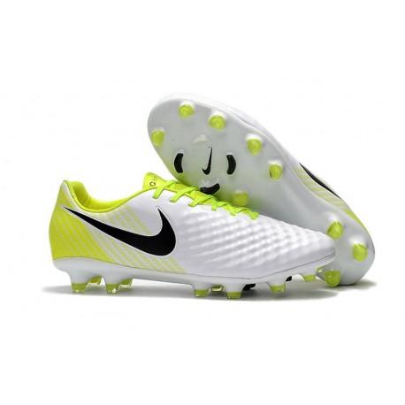 New Nike Magista Opus II Men's Firm-Ground Soccer Cleats White Black Volt
