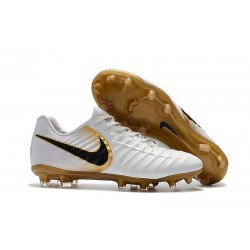 Nike Tiempo Legend VII FG FG Soccer Shoes - Low Price White Gold Black