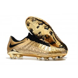 Nike Hypervenom Phantom 3 FG Low-cut Soccer Cleats For Sale Gold Black