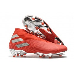 Adidas Nemeziz 19+ FG Soccer Cleats Active Red Silver