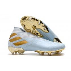Adidas Nemeziz 19+ FG Soccer Cleats Bold Aqua Gold