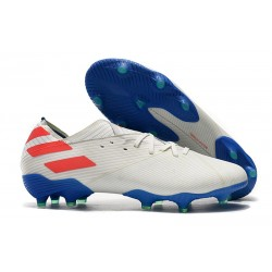 adidas Nemeziz 19.1 FG Soccer Shoes White Red Blue