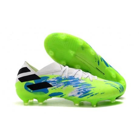 adidas Nemeziz 19.1 FG Soccer Shoes White Green Black
