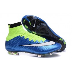 2016 Nike Mercurial Superfly IV FG Soccer Cleats Blue Lagoon White Volt Black