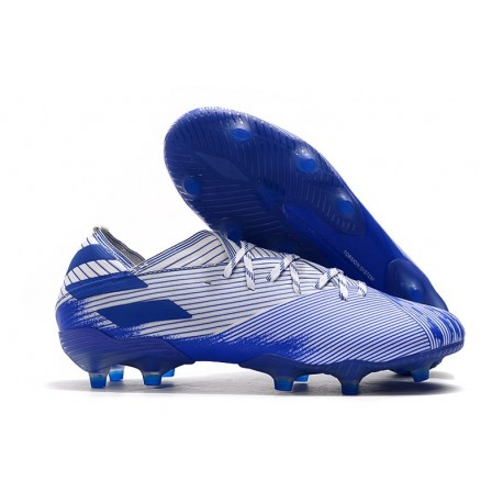 adidas Nemeziz 19.1 FG Firm Ground Boot White Royal Blue