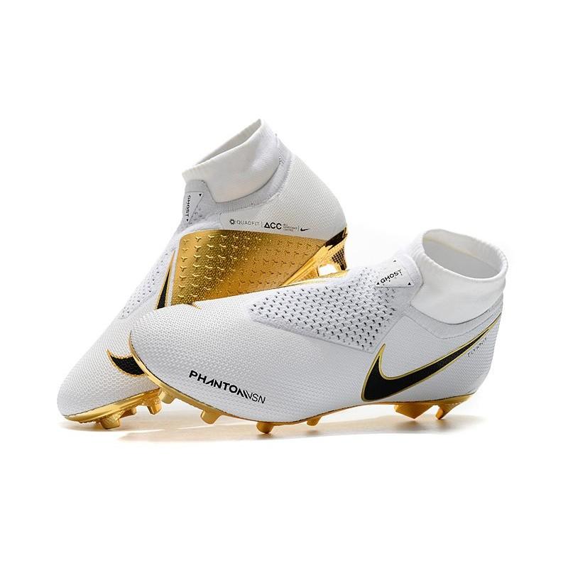 En realidad Cocinando río  Nike Phantom Vision Elite DF FG Soccer Cleat White Gold