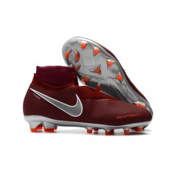 Nike Phantom Vision Elite DF FG Soccer Cleat Red Silver