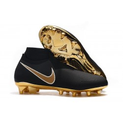 Nike Phantom Vision Elite DF FG Soccer Cleat Black Gold