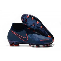 Nike Phantom Vision Elite DF FG Soccer Cleat Obsidian Black Blue