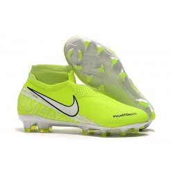 Nike Phantom Vision Elite DF FG Soccer Cleat New Lights Volt White