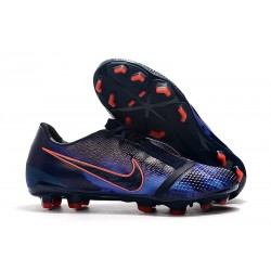 Nike Phantom VNM Elite FG Soocer Shoes Obsidian White Black Racer Blue