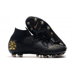 Nike Mercurial Superfly 7 AG Elite Cleats Black Gold