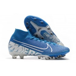 Nike Mercurial Superfly 7 AG Elite Cleats New Lights Blue White