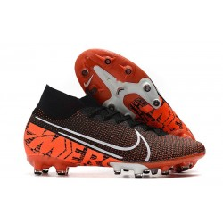 Nike Mercurial Superfly 7 AG Elite Cleats Black Orange White