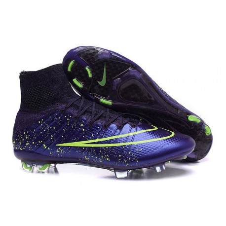 2016 Best Nike Mercurial Superfly IV FG Soccer Shoes Power Clash Leather FG Green Purple