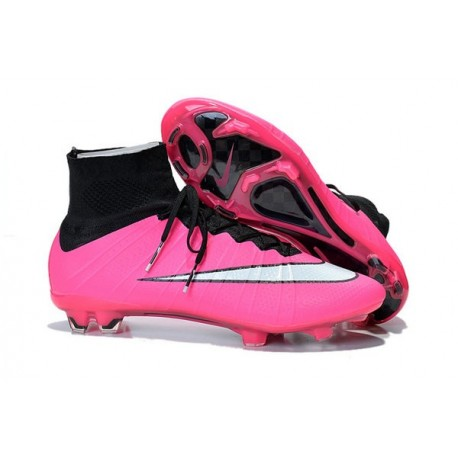 Nike Mercurial Superfly IV FG Soccer Cleats - Latest Shoes Hyper Pink Black White
