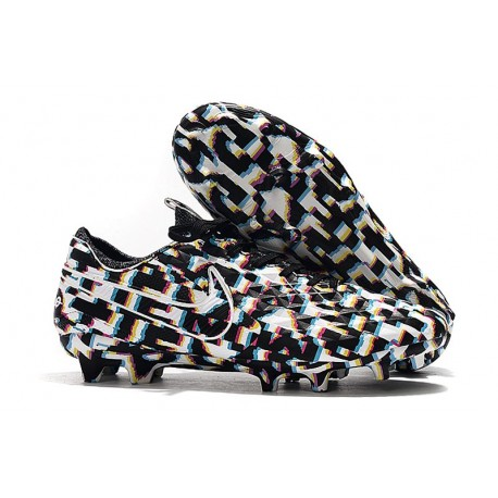 Nike Tiempo Legend VIII Elite FG Cleat Black White