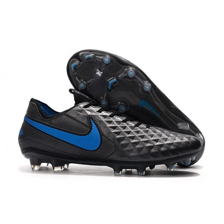 Nike Tiempo Legend VIII Elite FG Cleat Black Blue