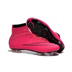 Nike New Shoes Mercurial Superfly 4 FG Soccer Cleats Hyper Pink Black