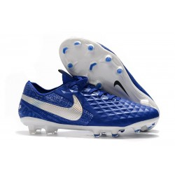 Nike Tiempo Legend VIII Elite FG Cleat Hyper Royal White