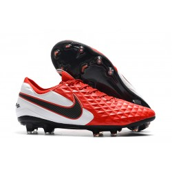 Nike Tiempo Legend VIII Elite FG Cleat Red Black White