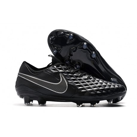 Nike Tiempo Legend VIII Elite FG Cleat Full Black