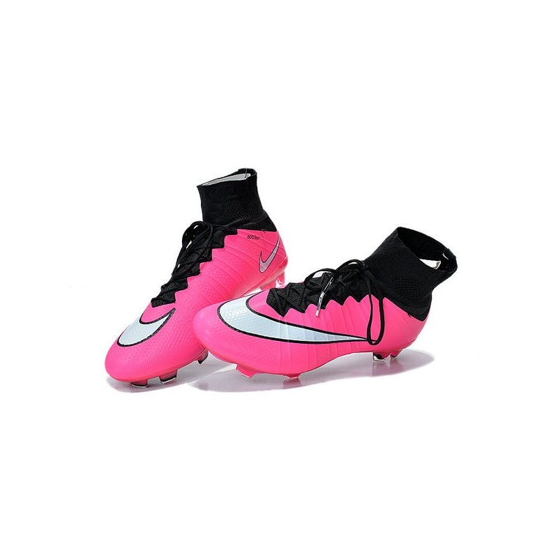 ec4b00e9a8a Nike Mercurial Superfly IV FG Soccer Cleats - Latest Shoes Hyper Pink Black  White