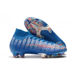 Nike Mercurial Superfly 7 Elite FG New Boots -Blue Red
