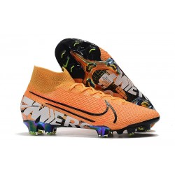 Nike Mercurial Superfly 7 Elite FG New Boots -Orange White Black