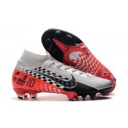 Nike Mercurial Superfly 7 Elite Neymar FG Chrome Black Red Platinum