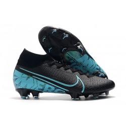 Nike Mercurial Superfly 7 Elite FG New Boots - Black Blue