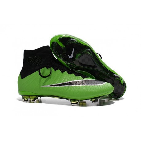 New Nike Mercurial Superfly IV FG Soccer Boots Green Black