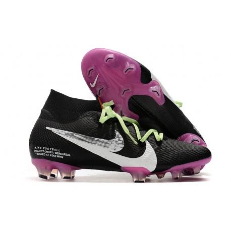 Nike Mercurial Superfly VII Elite FG Cleat Black Purple White