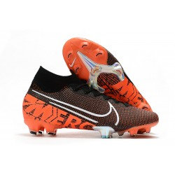 Nike Mercurial Superfly VII Elite FG Black Hyper Crimson White