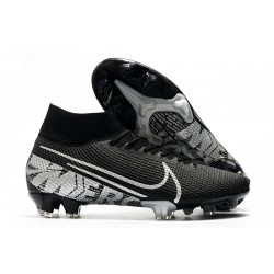 Nike Mercurial Superfly VII Elite FG Cleat Black Metallic Cool Grey