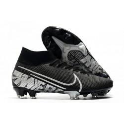 Nike Mercurial Superfly VII Elite FG Cleat Black Metallic Cool Grey