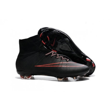 Nike Mercurial Superfly IV FG Soccer Cleats - Latest Shoes Black Red