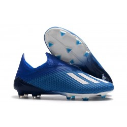 adidas X 19+ Firm Ground Soccer Cleats Royal Blue White
