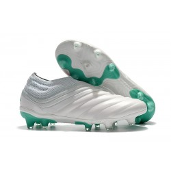 adidas Copa 19+ FG Soccer Cleats White Solar Lime