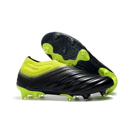 adidas Copa 19+ FG Soccer Cleats Core Black Solar Yellow