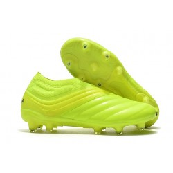 adidas Copa 19+ FG Soccer Cleats Solar Yellow Black