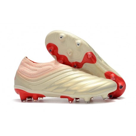 adidas Copa 19+ FG Soccer Cleats Off White Solar Red