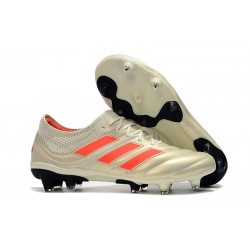adidas Copa 19.1 FG Soccer Boots White Solar Red