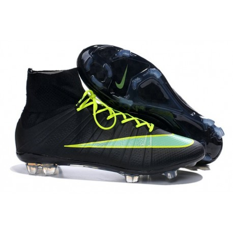 2016 Nike Mercurial Superfly IV FG Soccer Cleats Black Green