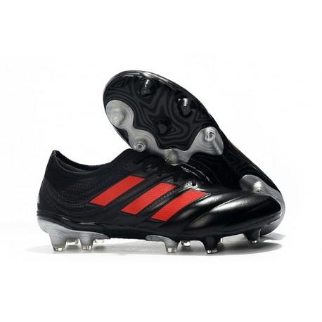 adidas Copa 19.1 FG Soccer Boots Core Black Solar Red